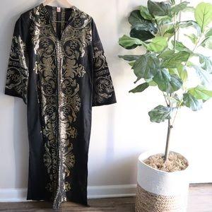 Gold metallic Kaftan dress